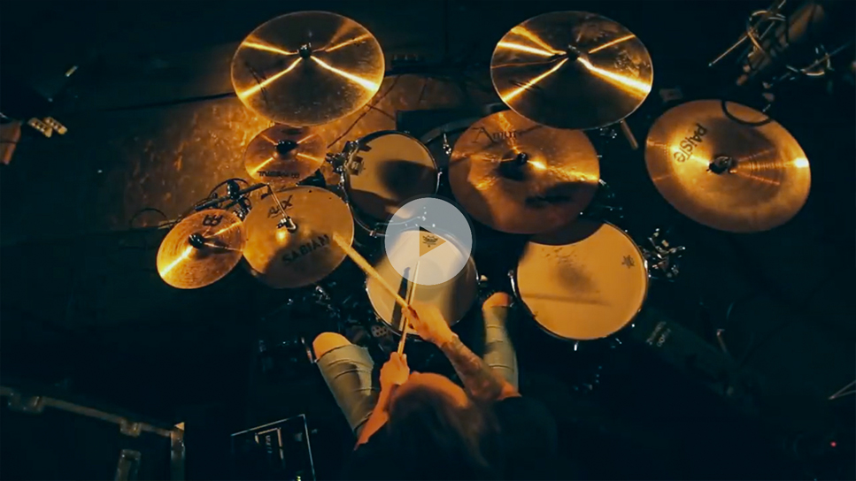 Drummer der Band Days of Grace beim Videodreh